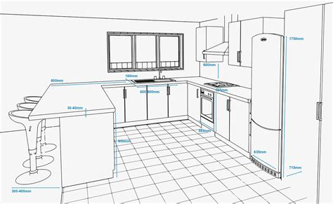 kitchen island sizes kitchen design project designed by concept plan of a kitchen with standard appliance and unit