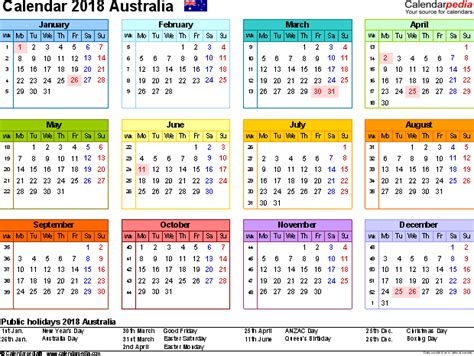 printable yearly planner australia 2018 calendar australia 2018 calendar template australia