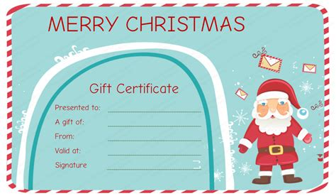 santa messages christmas gift certificate template santagiftcard chr christmas gift