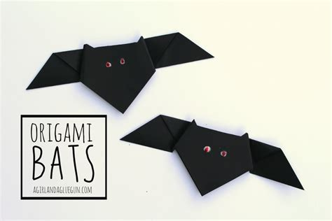 How To Make Paper Bats - origami bats a and a glue gun