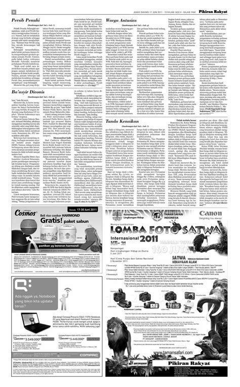 Tapak Jejak: Koran Pagi Edisi Jumat 17 Juni 2011