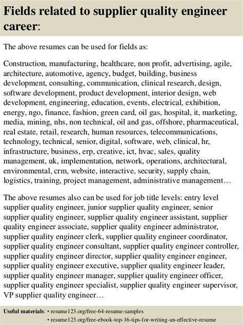 Beautiful Supplier Quality Assurance Resume Gallery - Simple .