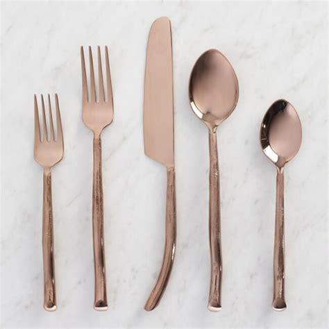 Design For Copper Flatware Ideas Strikingly Design Gold Flatware Set Home Design Ideas