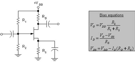 resistor divider bjt is operating point calculation the same for p jfet and n jfet with voltage divider bias