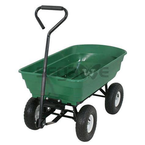 patio carts with wheels garden cart utility wagon lawn yard nursery dump wheel