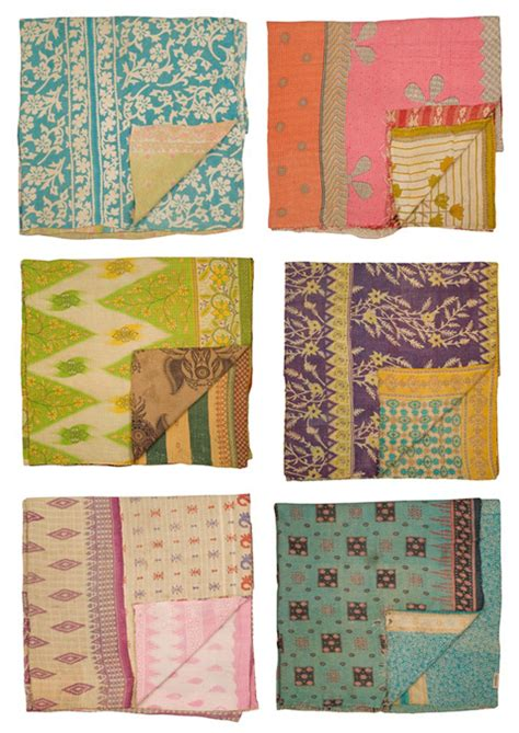 Vintage Kantha Quilt by 3 Monsters Decorating Obsession Kantha Quilts