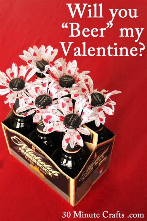 Best Valentine Gift For Him by Beer Flowers For Valentine S Day 30 Minute Crafts