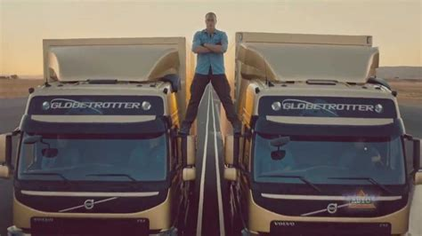 volvo trucks jean claude van damme epic split stunt  complete story youtube