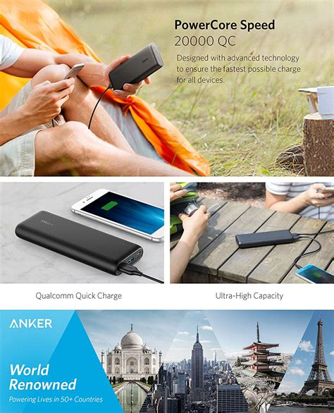 Anker Powercore Charge 3 0 Original Power Bank Berkualitas anker a1278 powercore speed 20000 power bank with