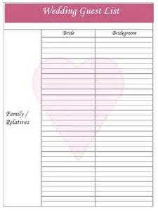 wedding guest list template uk 25 best ideas about wedding guest list on guest list wedding invitation list and