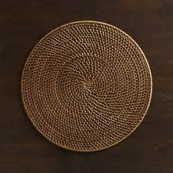 artesia rattan placemat crate and barrel