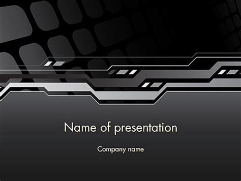 Abstract Black High Tech Powerpoint Template Backgrounds 13186 Poweredtemplate Com High Tech Powerpoint Templates