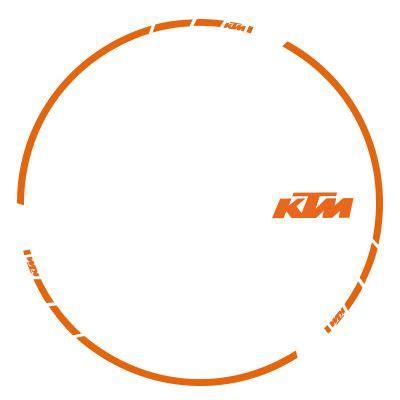 Ktm Retro Aufkleber by Felgenaufkleber Ktm Irace Design