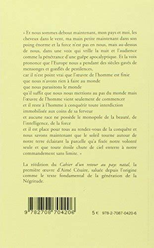 2708704206 cahier d un retour au pays libro cahier d un retour au pays natal di aime cesaire