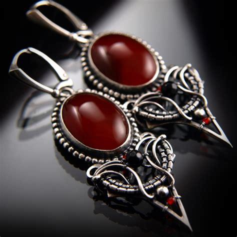 Plakat Carnelian Agate Pl 10 vesuvio earrings ii 1 by bartoszciba on deviantart