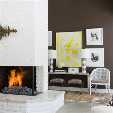 White Painted Fireplaces by White Brick Fireplace Design Ideas