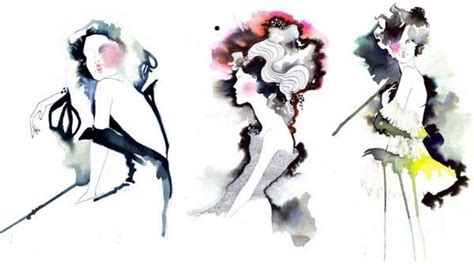 fashion illustration silhouettes bleeding color silhouettes amelie hegardt s illustrative