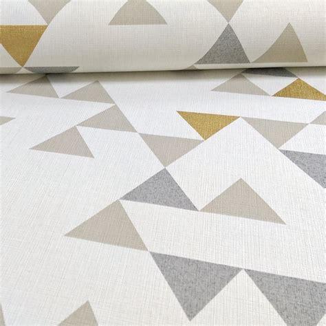 gold geometric pattern wallpaper unplugged triangle pattern geometric gold vinyl wallpaper