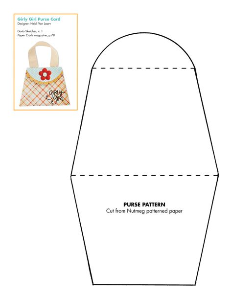 Free Paper Craft Patterns - 7 best images of free printable paper purse templates