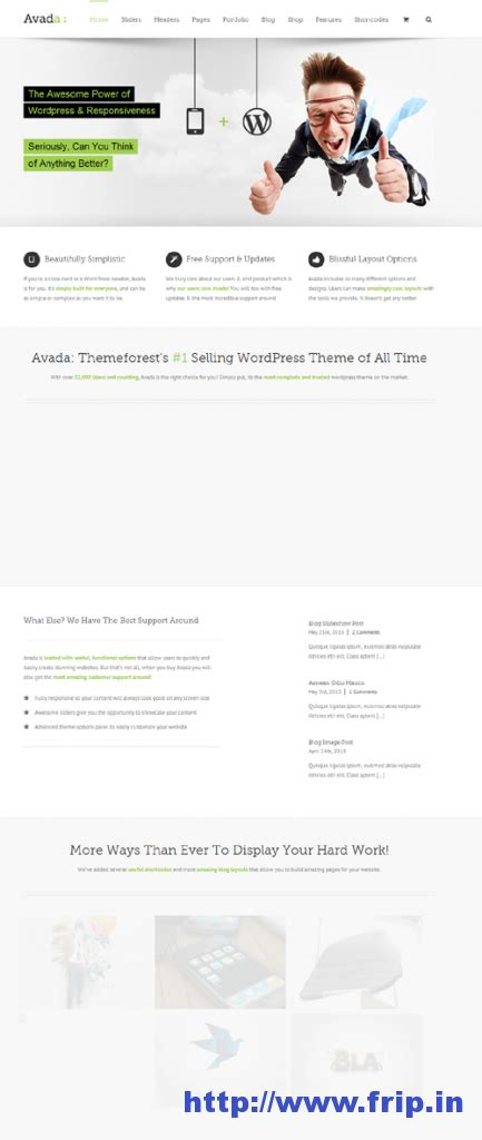 avada theme options export 35 best business portfolio wordpress themes frip in