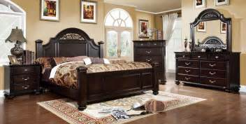 syracuse walnut poster bedroom set from furniture of