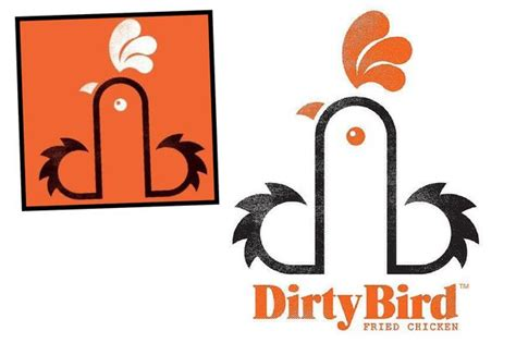 dirty bird a cheeky name and a phallic logo but just