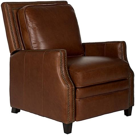 italian leather recliner safavieh buddy italian leather recliner bed bath beyond