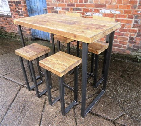 metal dining bar stool restaurant furniture warehouse reclaimed industrial 4 seater chic tall from rccltd on etsy