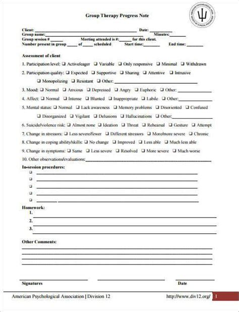therapy note template 13 best progress notes images on notes