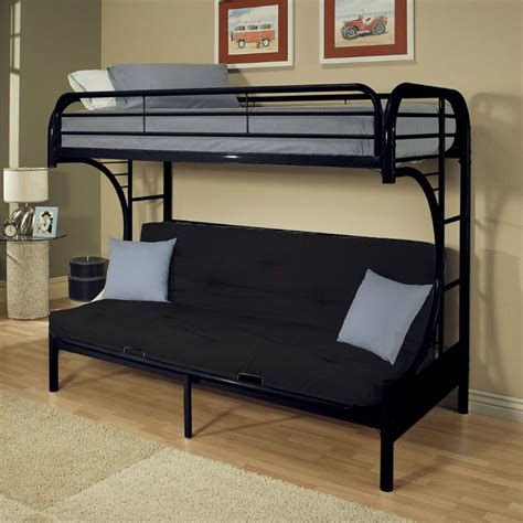acme bunk beds acme furniture eclipse twin xl over queen and futon bunk