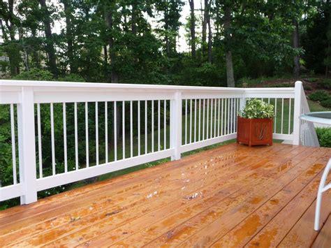 White Deck Railing With Black Balusters Logan Decks Porches Miller