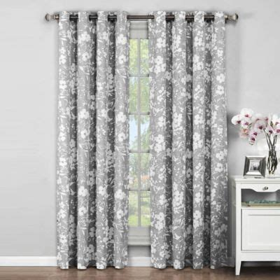 96 inch grey curtains buy finesse 96 inch grommet top window curtain panel pair