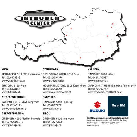 Versicherung Motorrad österreich by Suzuki Intruder Center Motorrad News
