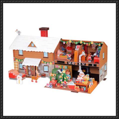 Santa Papercraft - house papercraftsquare free papercraft page 15