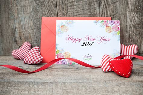 new year greeting card psd free new year greeting card mock up psd template design