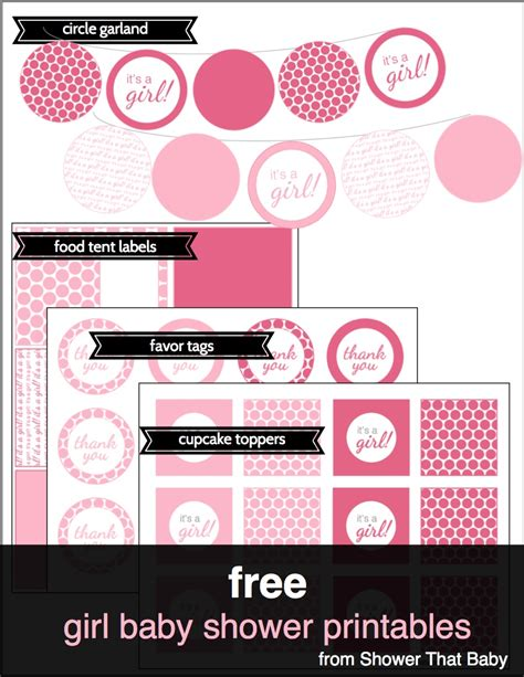 free printables for baby shower girl baby shower decorations including free printables