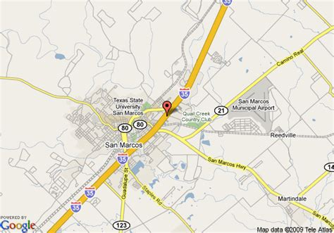 map san marcos texas map of ramada limited san marcos san marcos