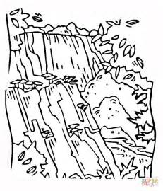 waterfall coloring page waterfall victoria coloring page free printable coloring