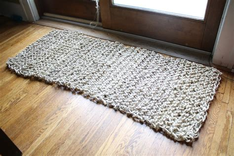 how to knit a rug diy knit sisal rug merrypad