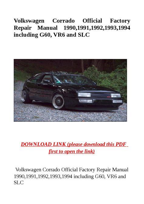 service and repair manuals 1994 volkswagen corrado instrument cluster volkswagen corrado official factory repair manual 1990 1991 1992 1993 1994 including g60 vr6