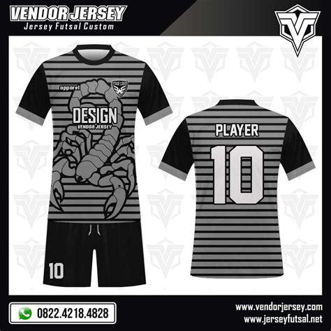 desain gambar pada kaos desain kaos futsal scorpion vendor jersey futsal