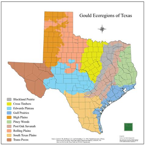 texas biomes map tpwd gis lab map downloads