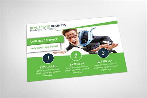 Real Estate Postcard Template Card Templates On Creative Market Postcard Advertising Template