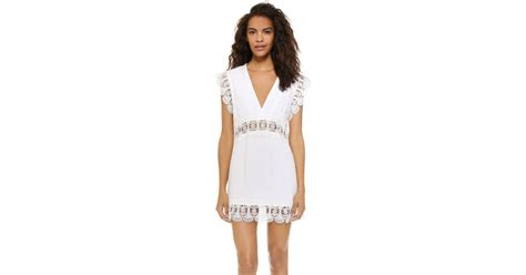 Dress Hello White Tr 07 lyst suboo stevie lace mini dress in white