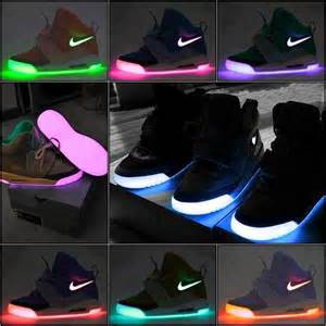 neon color shoes light up neon nike rainbow color shoes