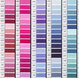 Dmc Floss Card Template by Dmc Floss Color Colour Card With Real Thread Sles For