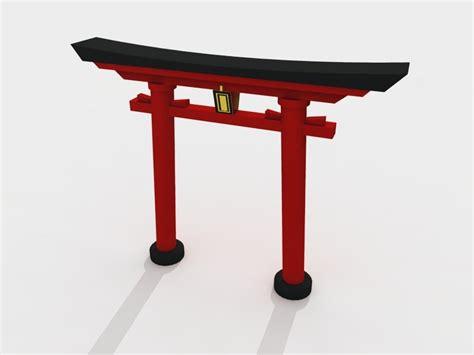 japan furniture japanese 3d model 3d torii gate garden japanese model