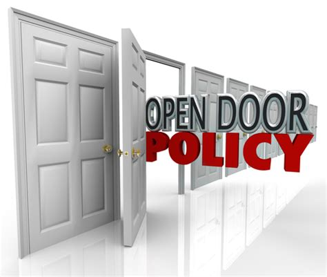 What Is Open Door Policy by Open Door Policy What Does It For You