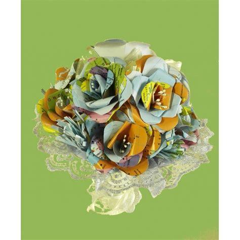 bouquet fiori carta bouquet di fiori con carte geografiche classico