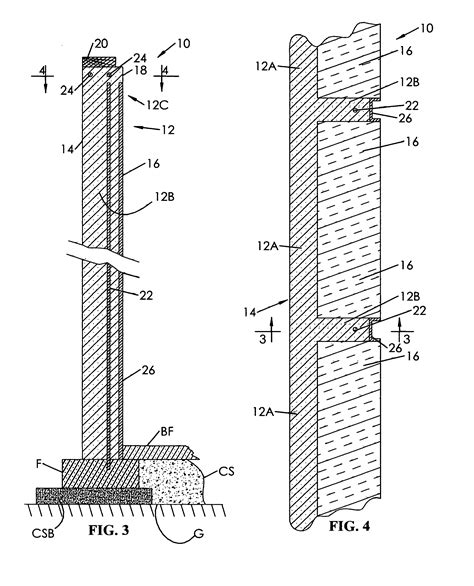 precast concrete wall section patent us8375677 insulated poured concrete wall